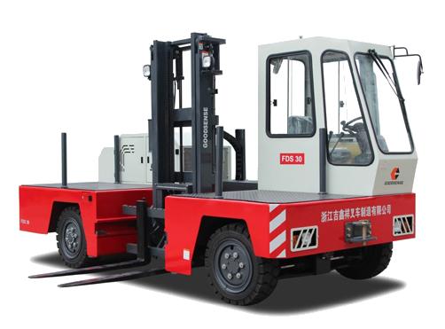 sideloader forklift truck